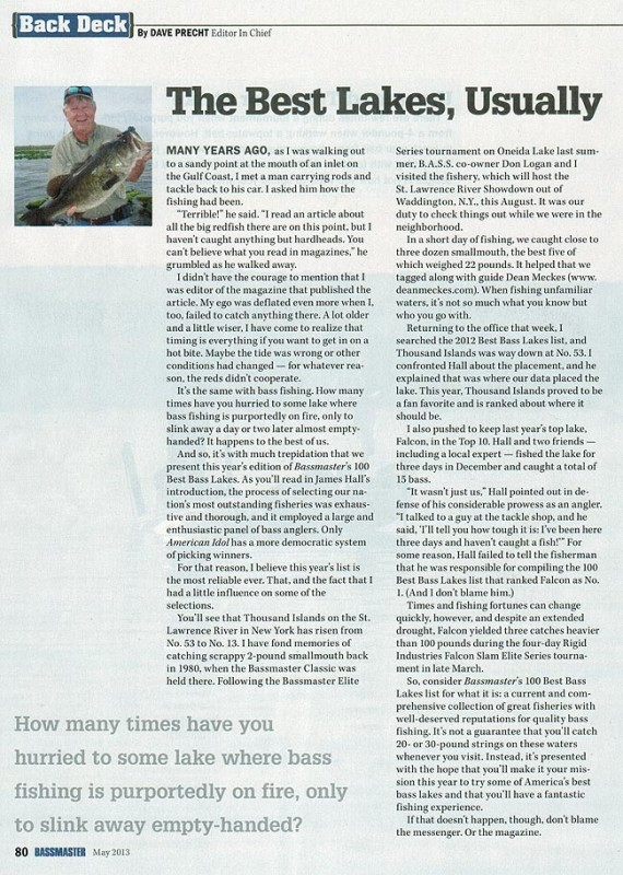BASS Article Dean Meckes Thousand Islands