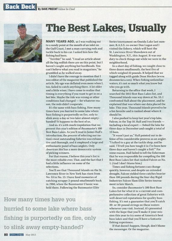 BASS Article Dean Meckes Thousand Islands